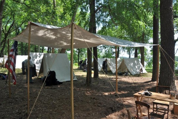 Wilson's Wharf Camp Scene