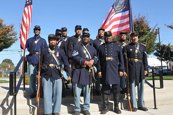 54th Massachusetts Company B and 26th U.S. Colored Troops at Annapolis Emancipation Day.