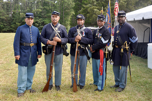 Members of 26th U.S. Colored Troops and 54th Mass. Company B.